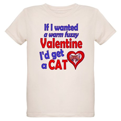 Cat Funny Anti-Valentine Organic Kids T-Shirt