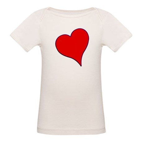 Big Red Heart Valentine Organic Baby T-Shirt