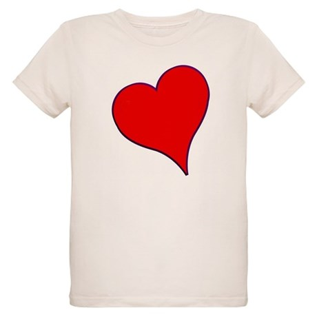 Big Red Heart Valentine Organic Kids T-Shirt