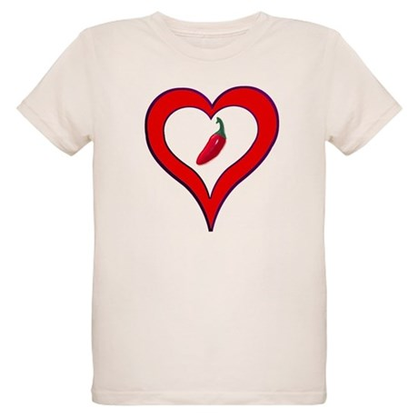 Red Hot Pepper Valentine Organic Kids T-Shirt