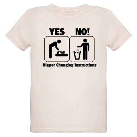 Diaper Changing Instructions Organic Kids T-Shirt