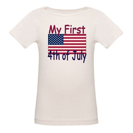 Baby's First 4th of July Organic Baby T-Shirt