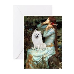 Ophelia / Eskimo Spitz #1 Greeting Cards (Pk of 20
