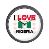 I Love Nigeria Wall Clock