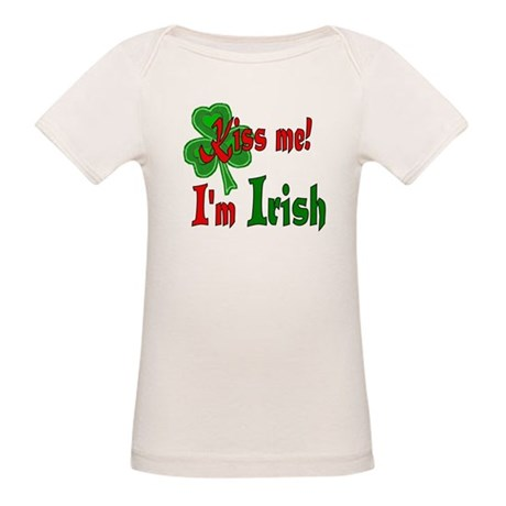 Kiss Me I'm Irish Organic Baby T-Shirt