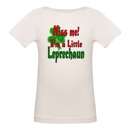 Kiss Little Leprechaun Organic Baby T-Shirt