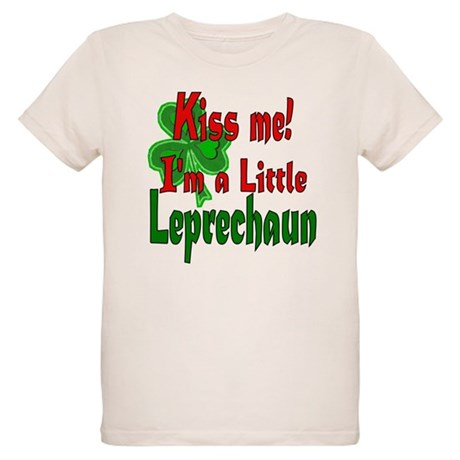 Kiss Little Leprechaun Organic Kids T-Shirt