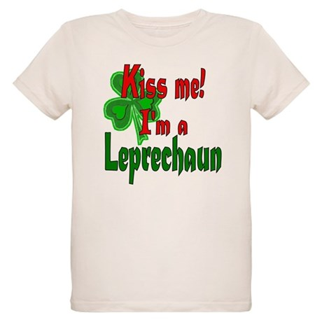 Kiss Me Leprechaun Organic Kids T-Shirt