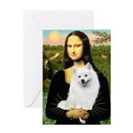 Mona / Eskimo Spitz #1 Greeting Card