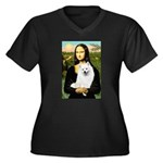 Mona / Eskimo Spitz #1 Women's Plus Size V-Neck Da