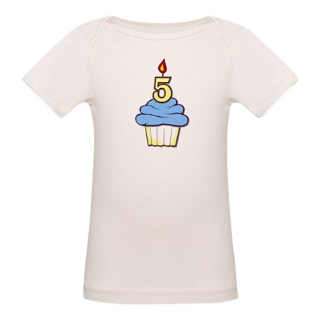 Boy Cupcake 5th Birthday Organic Baby T-Shirt