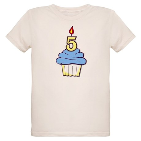 Boy Cupcake 5th Birthday Organic Kids T-Shirt