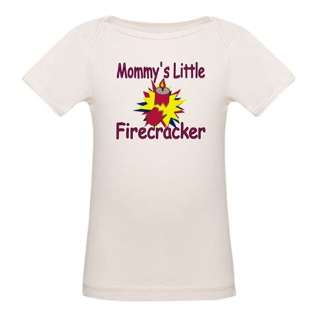 Mommy's Little Firecracker Organic Baby T-Shirt