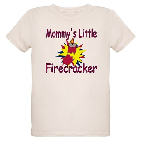 Mommy's Little Firecracker Organic Kids T-Shirt