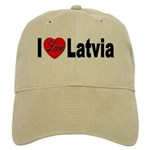 I Love Latvia Cap