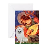 Mandolin / Eskimo Spitz #1 Greeting Card