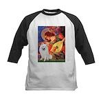 Mandolin / Eskimo Spitz #1 Kids Baseball Jersey