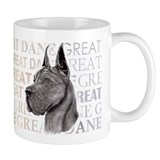 Great Dane Black Show Colors Small Mug