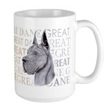 Great Dane Blue Show Colors Coffee Mug
