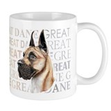 Great Dane Fawn Show Colors Small Mug