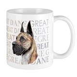 Great Dane Brindle Show Colors Small Mugs