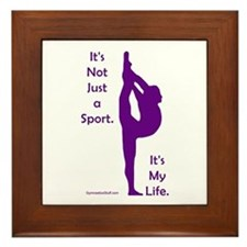 Gymnastics Framed Tile - Life