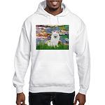 Lilies / Eskimo Spitz #1 Hooded Sweatshirt