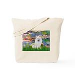 Lilies / Eskimo Spitz #1 Tote Bag