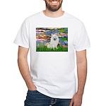 Lilies / Eskimo Spitz #1 White T-Shirt