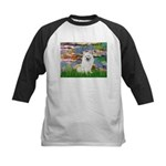 Lilies / Eskimo Spitz #1 Kids Baseball Jersey