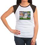 Lilies / Eskimo Spitz #1 Women's Cap Sleeve T-Shir