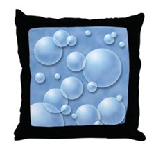 Blue Bubble Throw Pillow