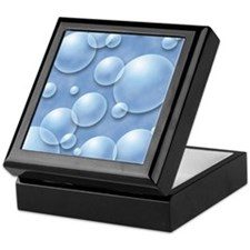 Blue Bubble Keepsake Box