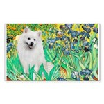 Irises / Eskimo Spitz #1 Sticker (Rectangle 50 pk)