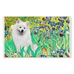 Irises / Eskimo Spitz #1 Sticker (Rectangle 50 pk)