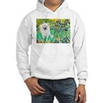 Irises / Eskimo Spitz #1 Hooded Sweatshirt