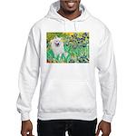 Irises / Eskimo Spitz #1 Hooded Sweatshirt