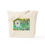 Irises / Eskimo Spitz #1 Tote Bag