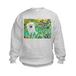 Irises / Eskimo Spitz #1 Kids Sweatshirt
