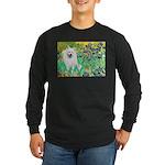 Irises / Eskimo Spitz #1 Long Sleeve Dark T-Shirt