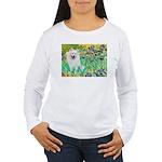 Irises / Eskimo Spitz #1 Women's Long Sleeve T-Shi
