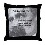 Group Insanity: Nietzsche Throw Pillow