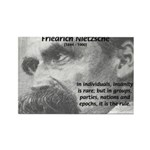 Group Insanity: Nietzsche Rectangle Magnet (100 pa