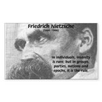 Group Insanity: Nietzsche Rectangle Sticker