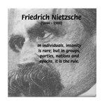 Group Insanity: Nietzsche Tile Coaster