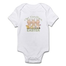 Our First Easter Triplets Onesie