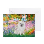 Garden / Eskimo Spitz #1 Greeting Cards (Pk of 10)