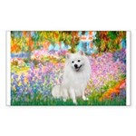 Garden / Eskimo Spitz #1 Sticker (Rectangle)