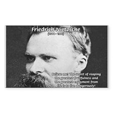 Nietzsche: Live Dangerously Rectangle Decal