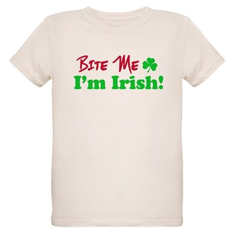 Bite Me I'm Irish Organic Kids T-Shirt